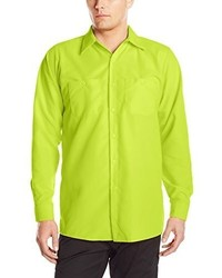 Camisa de Manga Larga en Amarillo Verdoso de Red Kap