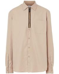 Camisa de manga larga en beige de Burberry