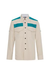 Camisa de Manga Larga en Beige de Calvin Klein 205W39nyc