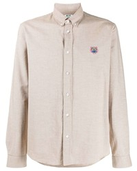 Camisa de manga larga en beige de Kenzo