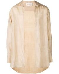 Camisa de manga larga en beige de Ludovic De Saint Sernin