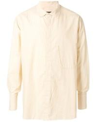 Camisa de manga larga en beige de Ziggy Chen