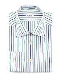 Camisa de manga larga en blanco y verde