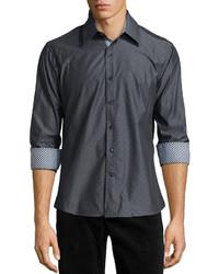 Camisa de manga larga en gris oscuro