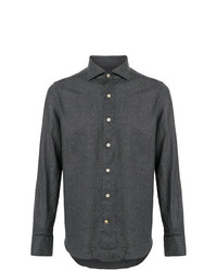 Camisa de Manga Larga en Gris Oscuro de Alessandro Gherardi