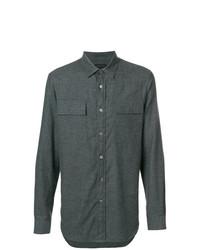 Camisa de manga larga en gris oscuro de Ann Demeulemeester