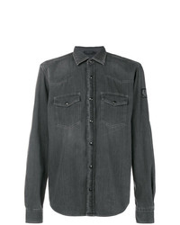 Camisa de Manga Larga en Gris Oscuro de Belstaff