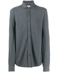 Camisa de manga larga en gris oscuro de Brunello Cucinelli
