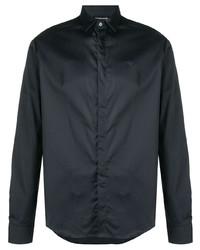 Camisa de manga larga en gris oscuro de Emporio Armani