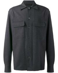 Camisa de manga larga en gris oscuro de Ermenegildo Zegna