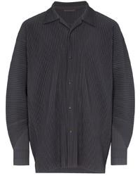 Camisa de manga larga en gris oscuro de Homme Plissé Issey Miyake