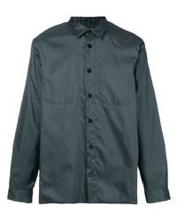 Camisa de manga larga en gris oscuro de Jil Sander
