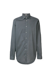 Camisa de Manga Larga en Gris Oscuro de Massimo Alba
