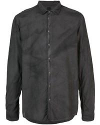 Camisa de manga larga en gris oscuro de Poème Bohémien