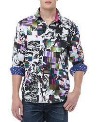 Camisa de manga larga en multicolor