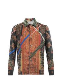 Camisa de manga larga en multicolor de Pierre Louis Mascia