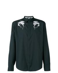 Camisa de Manga Larga en Negro y Blanco de McQ Alexander McQueen