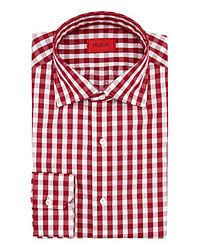 Camisa de Manga Larga en Rojo y Blanco