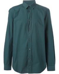 Camisa de Manga Larga en Verde Azulado de Maison Margiela