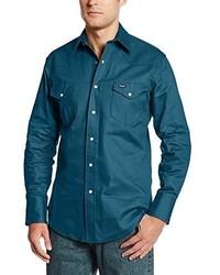 Camisa de Manga Larga en Verde Azulado de Wrangler