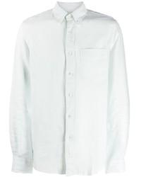 Camisa de manga larga en verde menta de Aspesi