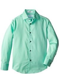 Camisa de manga larga en verde menta de Calvin Klein