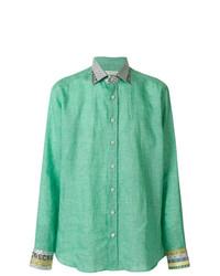 Camisa de manga larga en verde menta de Etro