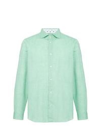 Camisa de manga larga en verde menta de Loveless