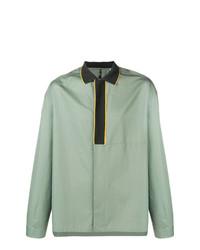 Camisa de manga larga en verde menta de Oamc