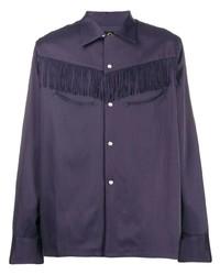 Camisa de manga larga en violeta de Needles