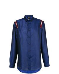 Camisa de manga larga estampada azul marino de Cavalli Class