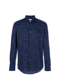 Camisa de manga larga estampada azul marino de Ps By Paul Smith