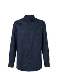 Camisa de manga larga estampada azul marino de Vivienne Westwood