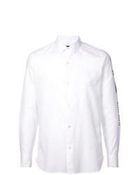 Camisa de manga larga estampada blanca de Ann Demeulemeester