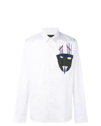 Camisa de manga larga estampada blanca de Diesel Black Gold
