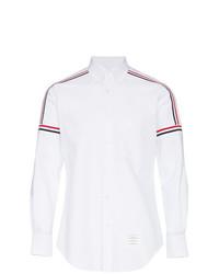 Camisa de Manga Larga Estampada Blanca de Thom Browne