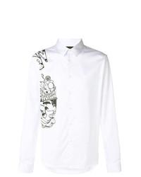 Camisa de Manga Larga Estampada en Blanco y Negro de Diesel Black Gold
