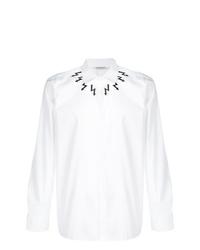 Camisa de manga larga estampada en blanco y negro de Neil Barrett