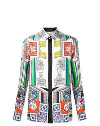 Camisa de manga larga estampada en multicolor de Versace