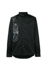 Camisa de Manga Larga Estampada en Negro y Blanco de Diesel Black Gold