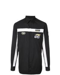 Camisa de manga larga estampada en negro y blanco de Givenchy