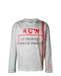 Camisa de manga larga estampada gris de A-Cold-Wall*