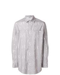 Camisa de manga larga estampada gris de Chalayan