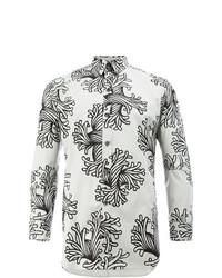 Camisa de manga larga estampada gris de Christopher Nemeth