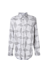 Camisa de manga larga estampada gris de Engineered Garments