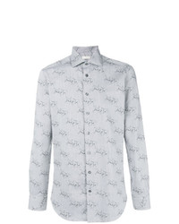 Camisa de manga larga estampada gris de Etro