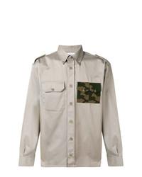 Camisa de manga larga estampada gris de Gosha Rubchinskiy