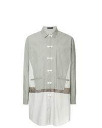 Camisa de manga larga estampada gris de John Undercover