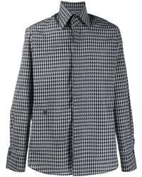Camisa de manga larga estampada gris de Karl Lagerfeld