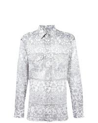 Camisa de manga larga estampada gris de Vivienne Westwood MAN